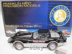 Franklin Mint Precision 1978 Chevy Corvette Official Indy Pace Car Black/Silver