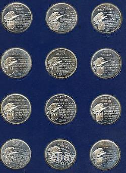 Franklin Mint Presidential 36 Silver Proof Coin Set. Uncirculated. Lot #423