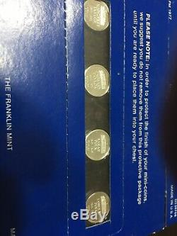 Franklin Mint Presidents & First Ladies Mini Solid Sterling Silver Set