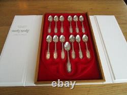 Franklin Mint Religious Collection 13 Apstle Spoons 445 Gr Solid Sterlingcased