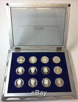 Franklin Mint STAR TREK INTERGALACTIC COMMEMORATIVE SILVER COIN COLLECTION