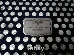 Franklin Mint Silver Mini Coin Set History of the United States 200 coins
