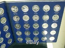 Franklin Mint Silver States Of The Union Series 1st Ed. Coins