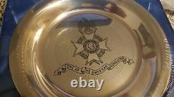 Franklin Mint Solid Sterling Silver Sons Of The American Revolution Plate New