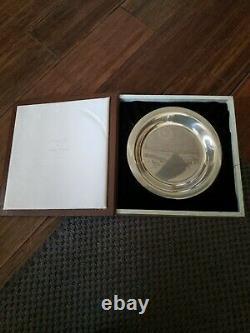 Franklin Mint Solid Sterling Silver Winter Fox James Wyeth