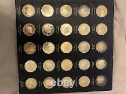 Franklin Mint States Of The Union Series First Edition Sterling Silver Proof Set