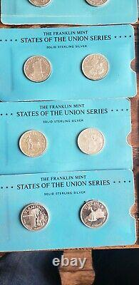 Franklin Mint States of The Union Sterling Silver lot of 20 coins. Rare HTF