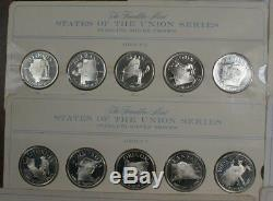 Franklin Mint States of the Union Series 50 Proof Sterling Silver Medals 22.5 oz