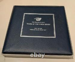 Franklin Mint States of the Union Series Sterling Silver Proof Set (1969)