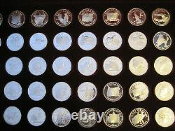 Franklin Mint States of the Union Sterling Silver Medals Governor's Edition Set