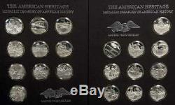 Franklin Mint Sterling AMERICAN HERITAGE, Medallic Treasury of American History