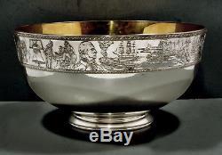 Franklin Mint Sterling Bicentennial Bowl #513-750 BOX & PAPERS 198 OZ