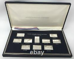 Franklin Mint Sterling Silver 1980 United States Olympic Postage Stamps Set