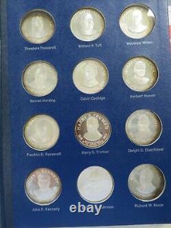 Franklin Mint Sterling Silver 36 pc Presidents Washington Nixon, 36 ounces