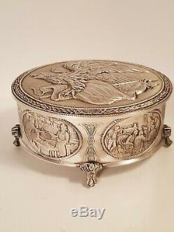 Franklin Mint Sterling Silver American Freedom Box Trinket Box 1976 Bicentennial