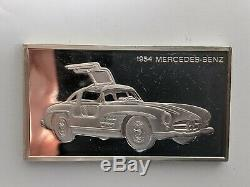 Franklin Mint Sterling Silver Car Bar Complete Collection. 208.33 Troy Oz