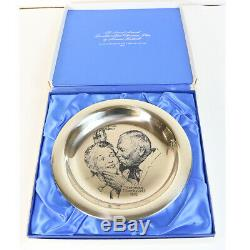 Franklin Mint Sterling Silver Christmas Plate By Norman Rockwell 1971 Limited