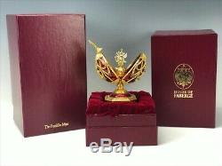 Franklin Mint Sterling Silver Faberge Imperial Eagle Egg Musical Box 14k Pin