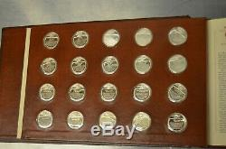 Franklin Mint Sterling Silver First Edition Proof Set 100 Coins with COA 1977
