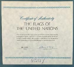 Franklin Mint Sterling Silver Flags of the United Nations Collection