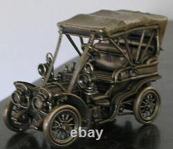 Franklin Mint Sterling Silver Miniature Car 1903 Fiat 6 Oz