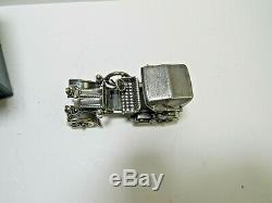 Franklin Mint Sterling Silver Miniature Car 1904 Mercedes Simplex withOrig. Box