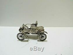 Franklin Mint Sterling Silver Miniature Car 1904 Oldsmobile withOrig. Box