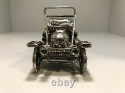 Franklin Mint Sterling Silver Miniature Car 1911 Stanley Steamer 6.8 oz