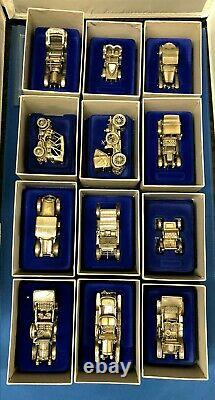 Franklin Mint Sterling Silver Miniature Car Collection Full Set RARE / MINT