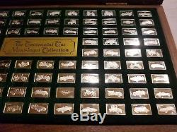 Franklin Mint Sterling Silver The Centennial Car Mini Ingot Collection Full Set
