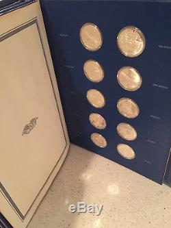 Franklin Mint Sterling Silver The Fifty-state Bicentennial Medal Collection