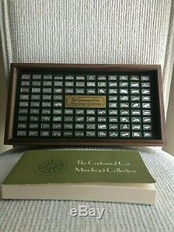 Franklin Mint The Centennial Car 100 Sterling Silver Mini-Ingot Collection