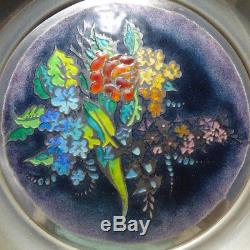 Franklin Mint The Four Seasons Champleve On Sterling Silver 8 Plates Framed