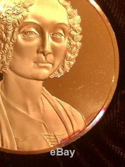 Franklin Mint The Genius of Leonardo Da Vinci, 50 gold plated silver medals
