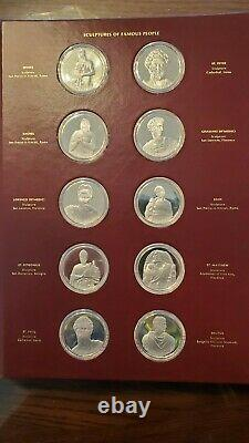 Franklin Mint The Genius of Michelangelo Sterling Silver complete PROOF set