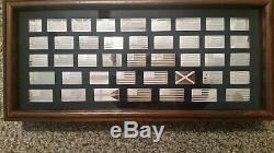 Franklin Mint The Great Flags Of America Sterling Silver Set Complete 42 Ingots