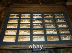Franklin Mint- The International Locomotive Sterling Silver Ingots Collection