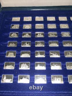 Franklin Mint The Medallic Register of the World's Greatest Ships 925 Silver