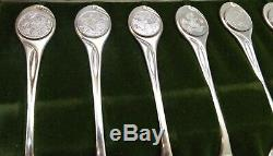 Franklin Mint The Twelve Days Of Christmas Sterling Silver Spoon Set #2244