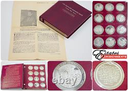 Franklin Mint Thomason Medallic Bible. 925 Sterling Silver Coins 75 Ozt
