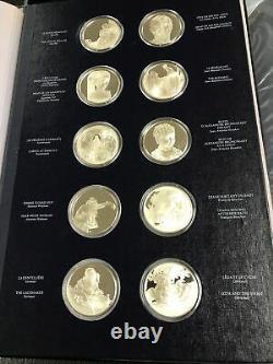 Franklin Mint Treasures Louvre 1st Ed Proof Set 50 Sterling Silver. 925 Medals