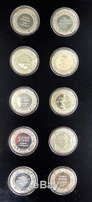 Franklin Mint Treasures of the Louvre Proof Sterling Silver 50-Coin Set With Case