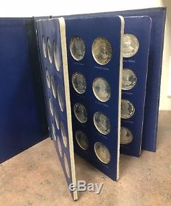 Franklin Mint Treasury Set Of 36 Sterling Presidential Commemorative Medals
