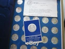 Franklin Mint Treasury of Presidential Commemorative 35 CoinsMedals 1968 Nixon