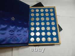 Franklin Mint Treasury of Presidential commemorative Medals 35 pc. Silver. 925