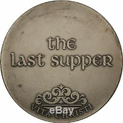Franklin Mint Vita Christi Jesus The Last Supper 4.1ozt Silver Medal