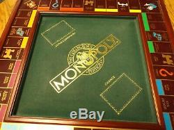 Franklin Mint Wooden Monopoly Game Silver Houses Gold Hotels Gold Tokens