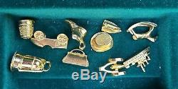 Franklin Mint Wooden Monopoly Game Silver Houses Gold Hotels Gold Tokens, Euc
