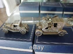 Franklin Mint complete set Silver Car Miniature