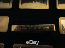 Franklin Mint sterling 50 bar set-ocean liners